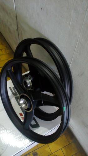 roda titan125 freio disco ano 2000 a 2008 3 pontas preta