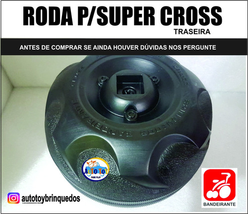 roda traseira atv 160/35 zr6 73 p/supercross 6v bandeirante