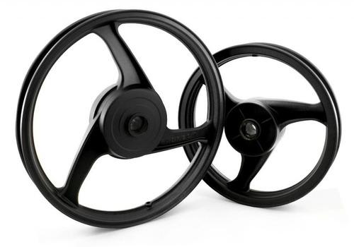 roda traseira liga leve modelo 3 palitos  biz 125 ks fabreck