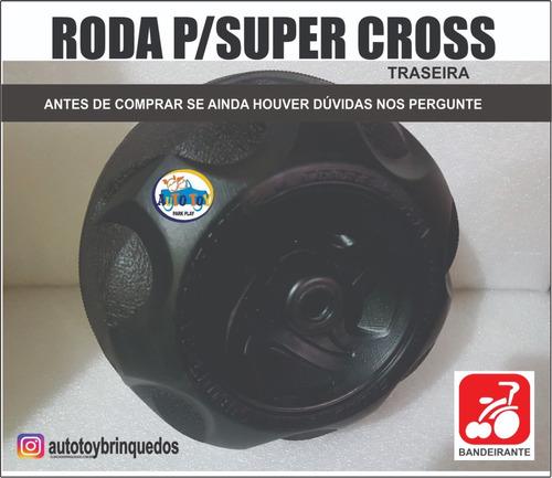 roda traseira preta p/ moto super cross 6v bandeirante