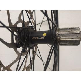 Roda Traseira Shimano Slx M678 C/ Disco Center Lock Fita Aro