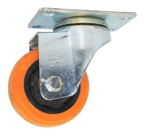 rodachina 2 pu naranja sin freno galvanizada imsa 7017145 ue