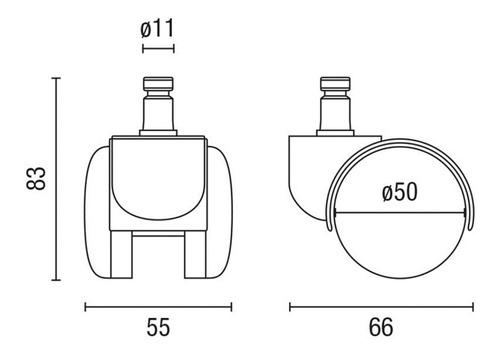 rodachina o rueda repuesto silla giratoria (juego 5 und)