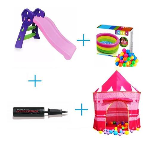 rodadero+ castillo + piscina de pelotas e inflador combo