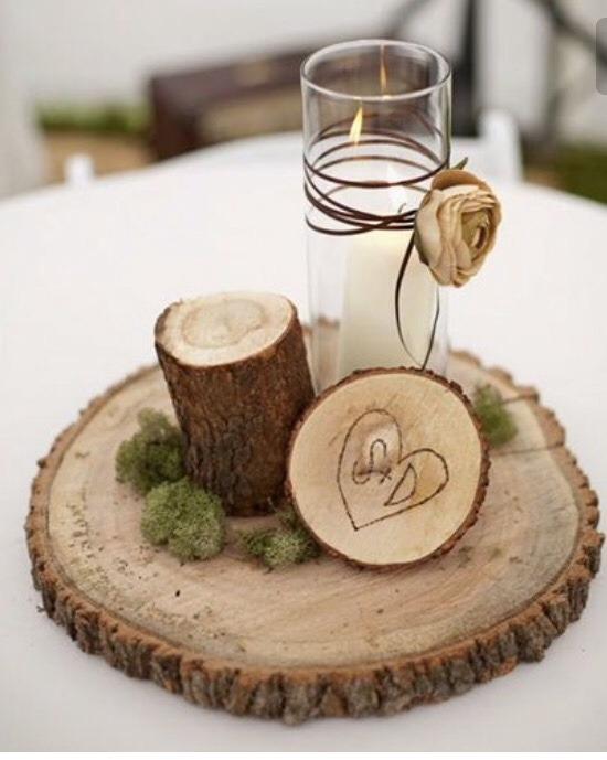 Rodajas de madera y troncos para decoracion trabajadas - Decoracion troncos madera ...
