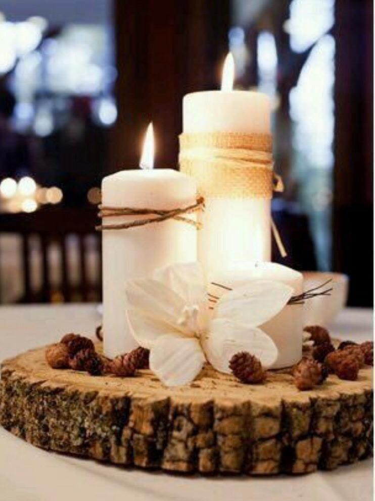 Rodajas de madera y troncos para decoracion trabajadas - Madera para decoracion ...