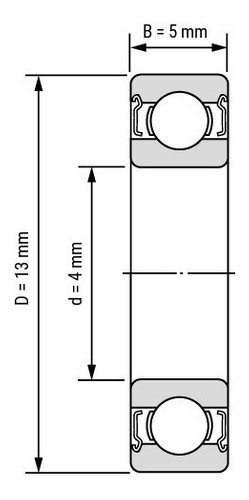 rodamiento 624zz ruleman impresora 3d ball bearing