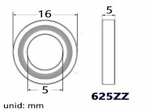 rodamiento 625zz unidad ruleman impresora 3d reprap prusa i