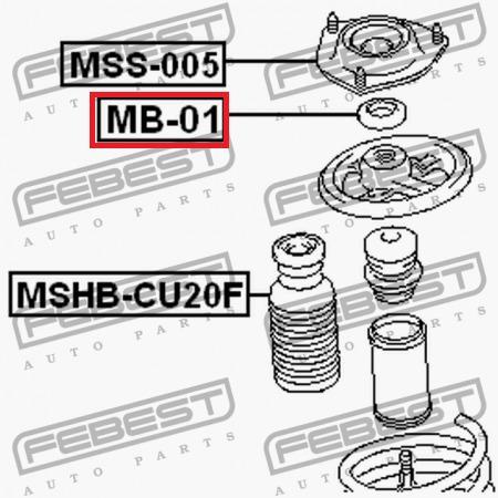 rodamiento base amortiguador outlander cw6w  06-12 febest
