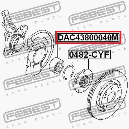 rodamiento delantero caliber compass con abs febest alemana