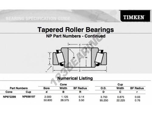 rodamiento np972299/np698197 timken