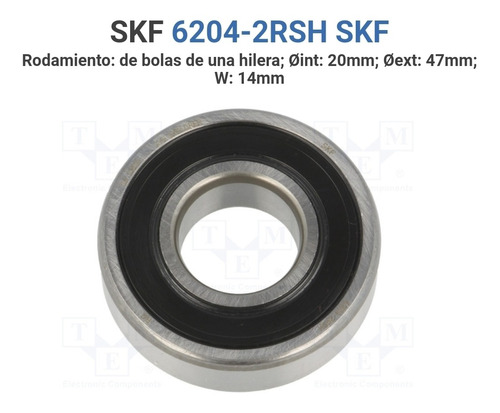 rodamiento skf 6204-2rsh