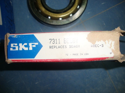 rodamiento skf 7311 becby  nuevo jaula de bronce