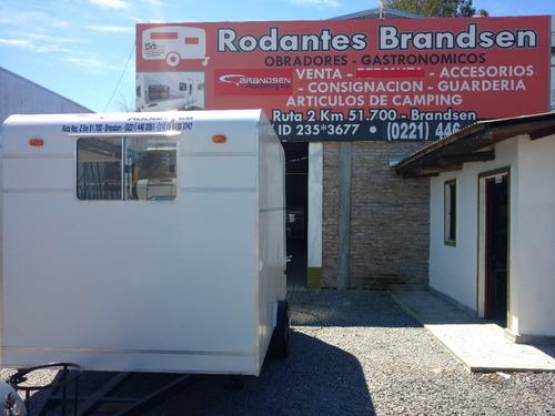 rodantes brandsen trailers gastronomico 3,00  un-eje