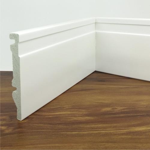rodapé de poliestireno frisado branco acabado 10 cm