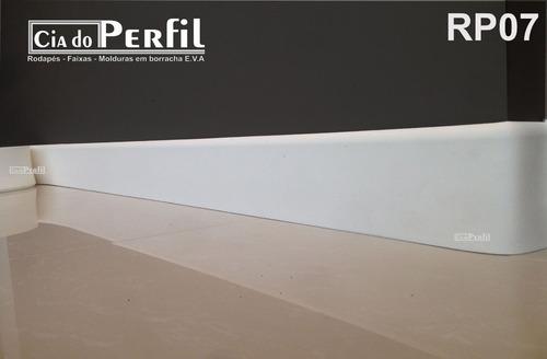 rodapé eva borracha 5x1cm - 10 metros - instalar c/ cola