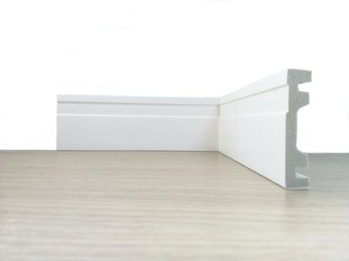 rodapé poliestireno frisado branco 10cm bucha parafuso metro