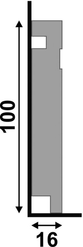 rodapé santa luzia 457 branco / barra (1,6cm x 10cm x 240)cm