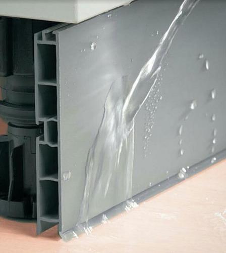 rodapie pvc aluminio 4mts liso altura 10cm herrajes