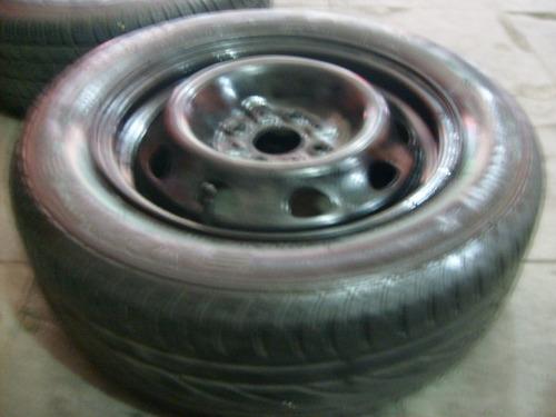 rodas  aro 14 fiat com pneus  meia  vida
