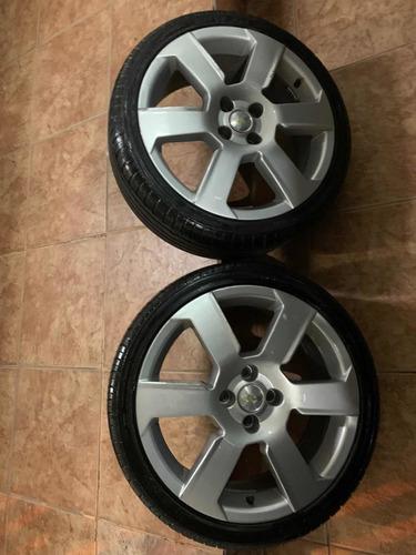 rodas aro 17 pneus 90% borrachas
