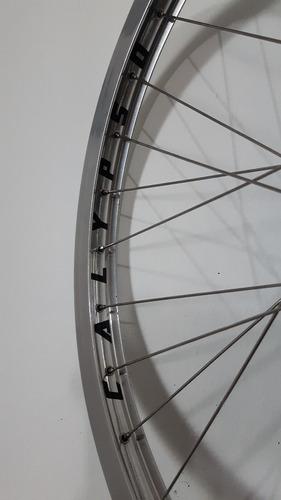 rodas aro 26 calypso brutus 32 furos - inox - freios à disco