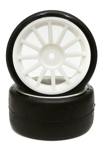 rodas automodelo slick s073 sh35 in/s branco 30mm sintec