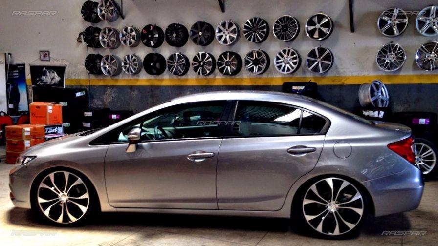 Rodas Civic Aro 20 C/ Pneus Honda Fiat Peugeot Vw Audi Bmw ...