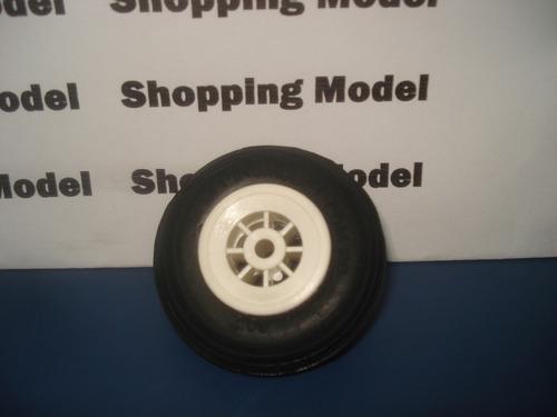 rodas de aeromodelo de borracha 2  da shopping model (par)