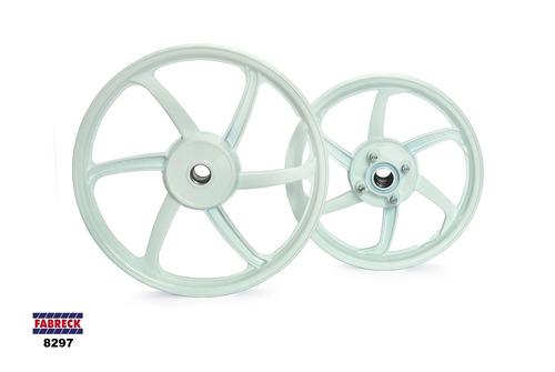 rodas de liga leve 6 palitos honda biz 100 freio tambor