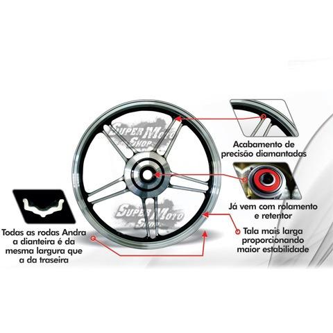rodas dianteira + traseira modelo ninja cg 125 fan 14/15 par