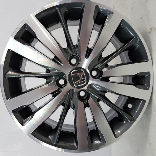 rodas honda fit 15 grafite diamantado+porcas+bicos+antifurto