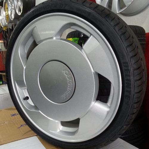 rodas orbital gomão + pneus 195/40/17 gol saveiro voyage