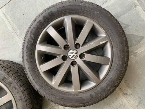 rodas originais vw completa com pneus goodyear eagle sport