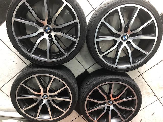 rodas para bmw x1 ou x3 aro 20 com pneus semi novos r em mercado livre. Black Bedroom Furniture Sets. Home Design Ideas