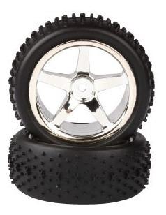 rodas para carros 1/10 e pneus off-road (1par)