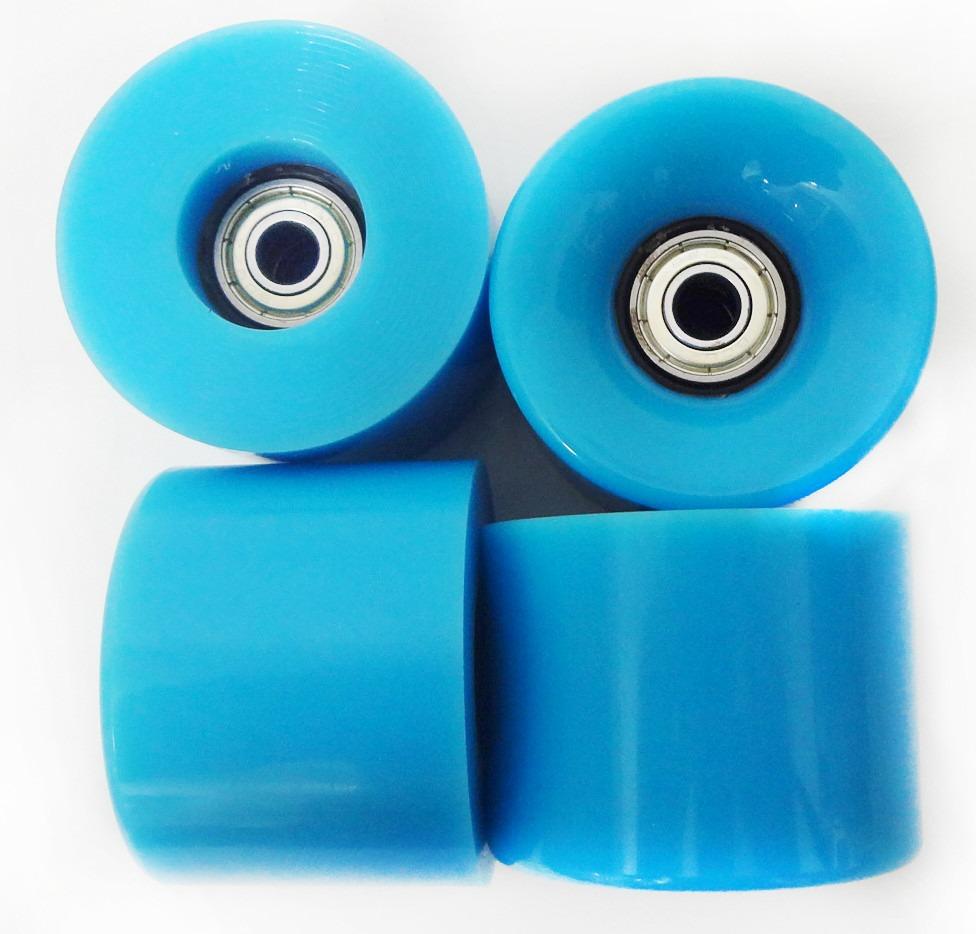 719a0f3ff64 rodas skate silicone kit 4 longboard mini long rolamento. Carregando zoom.