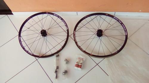 rodas sunringlé novas + adaptadores + liquido selante