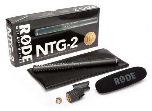 rode ntg2 microfono boom condensador funciona c/ 1 pila aa