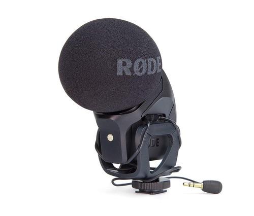 rode svm pro stereo videomic pro microfono boom p/ camara