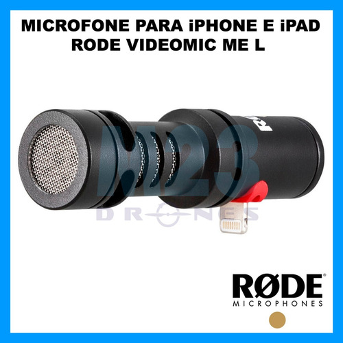 rode videomic me l microfone direcional para iphone ipad