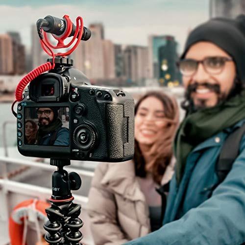 rode videomicro compact micrófono en la cámara con rycote
