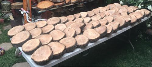rodelas, rodajas, trozos  de tronco 18 a 20 cms diametro
