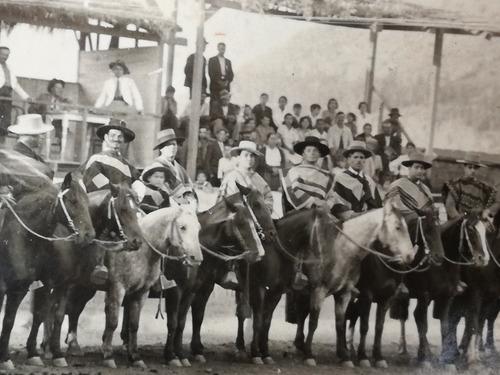 rodeo los andes 1935. fotografía grupal excelente. 17 x 12ct