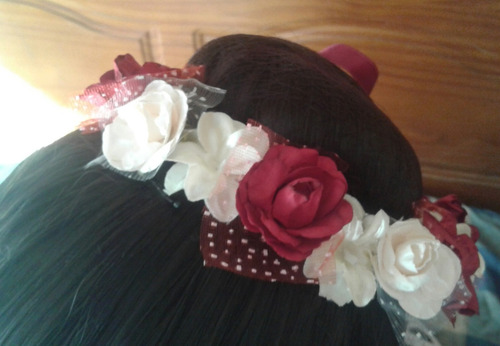 rodeteras tiaras de flores para bailarinas