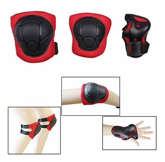 FNADO Kids//Youth Knee Pad Elbow Pads Guards Protective Gear 6 in 1 Set for Rollerblade Roller Skates Cycling Bike Skateboard Inline Skatings Scooter Riding Sports