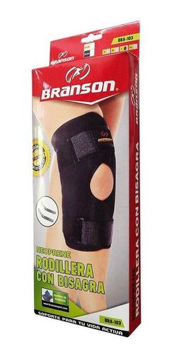 rodillera abierta ortopedica con bisagra branson original