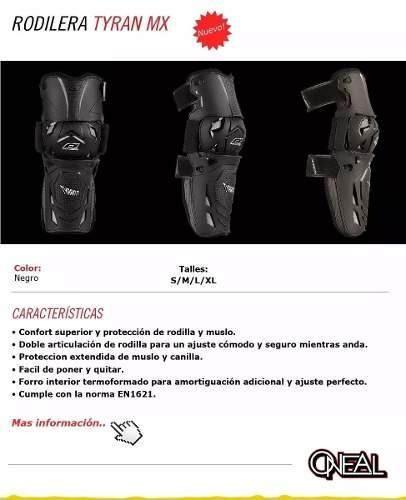 rodillera articulada oneal moto tyran mx cross cuotas