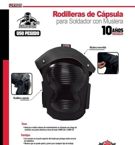 rodillera de capsula para soldador con muslera (usk02)