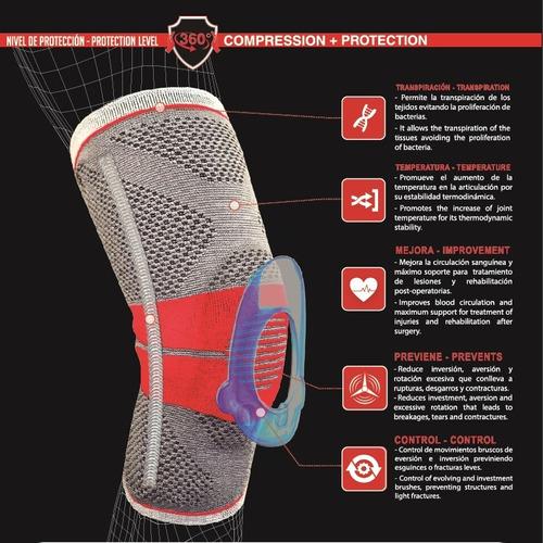rodillera deportiva con soporte rótula gel ortopédica